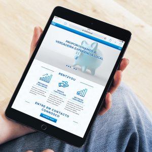 Rent2You Website - Tablet